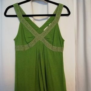 Green Anthropology tank size small